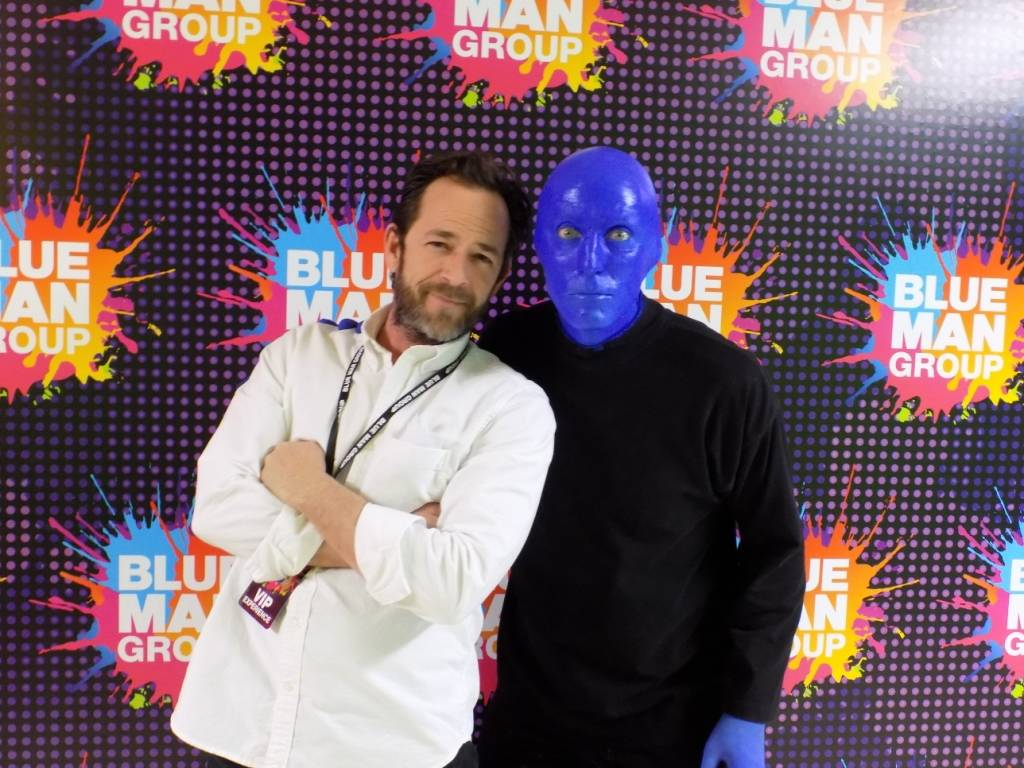 Luke Perry at Blue Man Group at The Luxor on Monday, Dec. 26, 2016, in Las Vegas. (Courtesy)