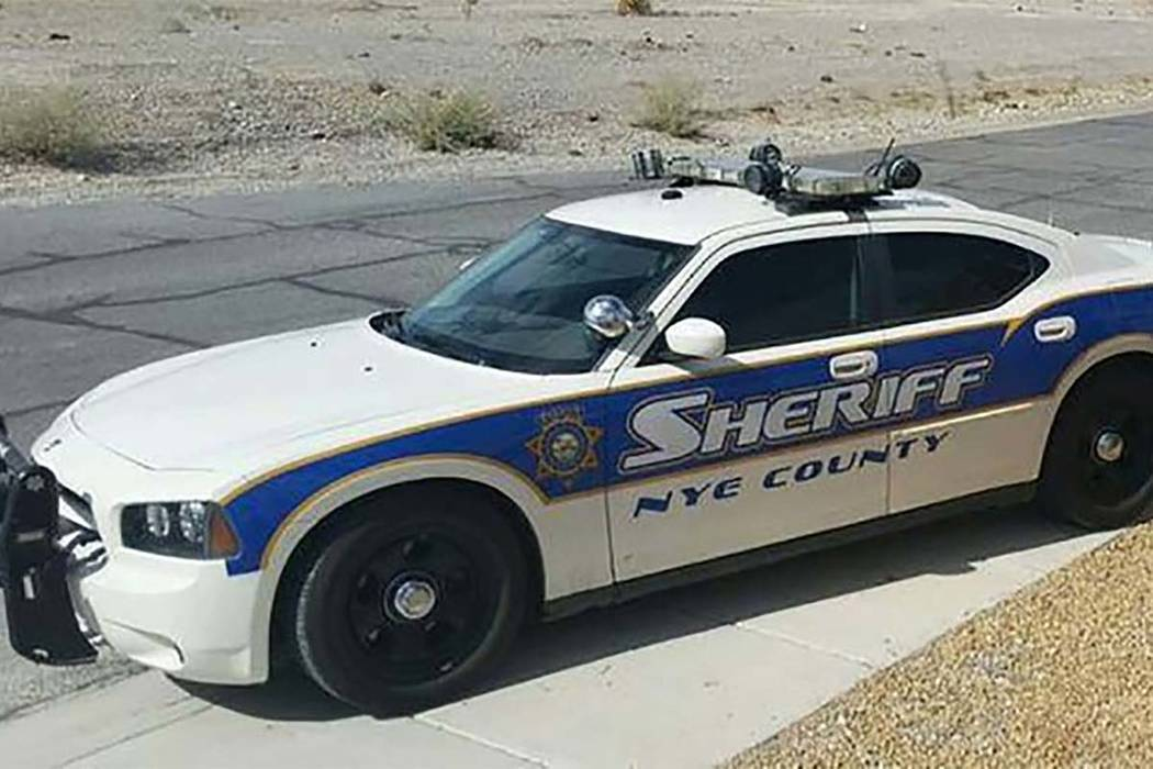 Nye County Sheriff vehicle (Special to Pahrump Valley Times)