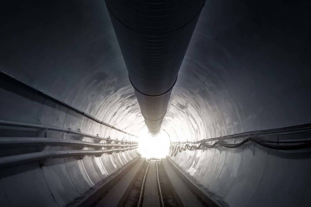 The Hawthorne Test Tunnel, located in Hawthorne, California, was used for research and development of The Boring Company's tunneling and public transportation systems. (The Boring Company)
