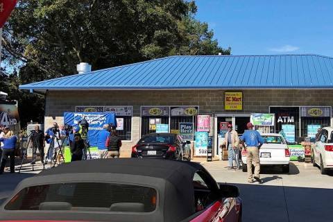 The South Carolina lottery says a single winner has stepped forward to claim the $1.5 billion Jackpot from a drawing in October. (AP Photo/Jeffrey Collins, File)
