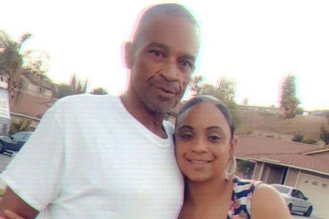 Roy Scott and daughter Rochelle Scott are shown in this undated photo. Roy Scott died Sunday, March 3, 2019, while in Las Vegas police custody. (Courtesy of Rochelle Scott)