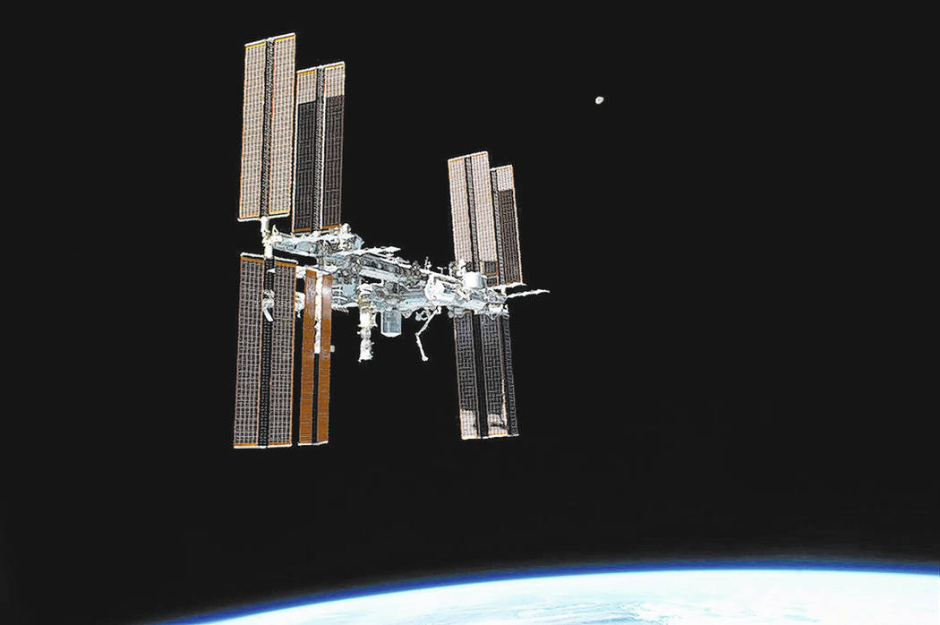 The International Space Station, photographed from the space shuttle Atlantis, on July 19, 2011. (MUST CREDIT: NASA)