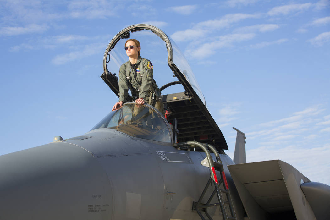 "Brie Larson stars as Carol Danvers/Captain Marvel in Marvel Studios' ""Captain Marvel."" (Chuck Zlotnick/Marvel Studios 2019)"