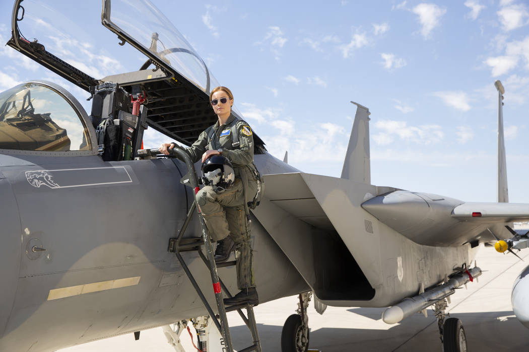 "Brie Larson stars as Carol Danvers/Captain Marvel in Marvel Studios' ""Captain Marvel."" (Chuck Zlotnick/Marvel Studios 2019)"