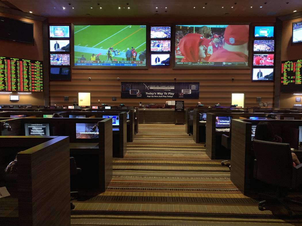 The M Resort sportsbook on Sunday, Feb. 24, 2019. (Todd Prince/Las Vegas Review-Journal)