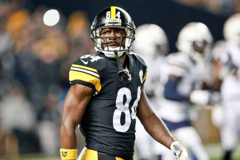Pittsburgh Steelers wide receiver Antonio Brown, seen in December 2018. (AP Photo/Don Wright)
