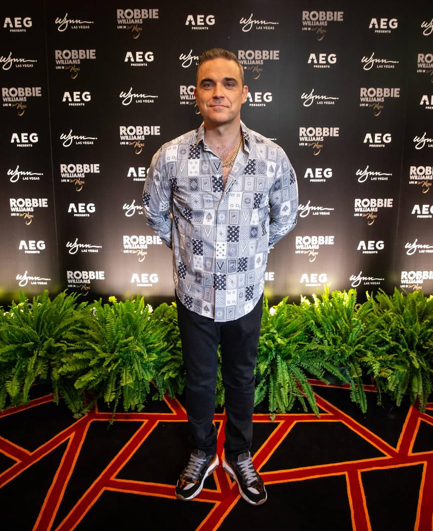 Robbie Williams is shown at Lakeside Restaurant at Wynn Las Vegas on Tuesday, March 5, 2019. (Erik Kabik Photography)