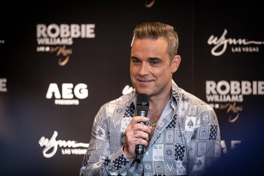 Robbie Williams is shown at Lakeside Restaurant at Wynn Las Vegas on Tuesday, March 5, 2019. (Erik Kabik Photography)