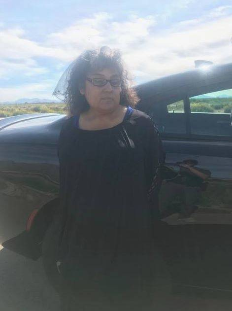 Esther Gomez De Aguilar is shown Monday, March 4, 2019, during a traffic stop outside Eloy, Arizona. (Pinal County Sheriff's Office/Facebook)