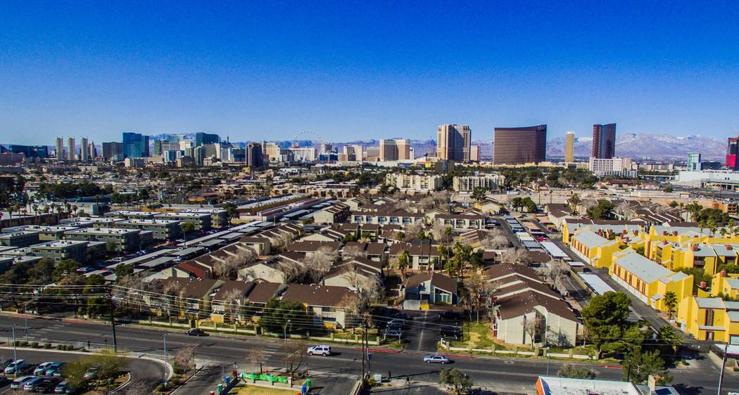 Laguna Point Properties acquired two apartment complexes near the Las Vegas Convention Center - Mi Casita, seen above, and Pinewood Crossing - for $67.7 million combined. (Photo courtesy of NAI Vegas)