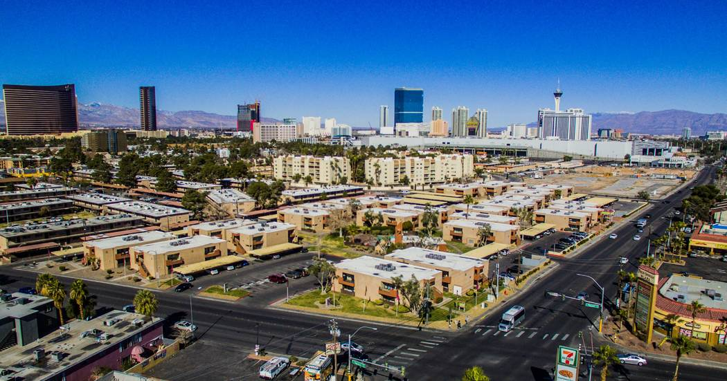 Laguna Point Properties acquired two apartment complexes near the Las Vegas Convention Center - Mi Casita and Pinewood Crossing, seen above - for $67.7 million combined. (Photo courtesy of NAI Vegas)