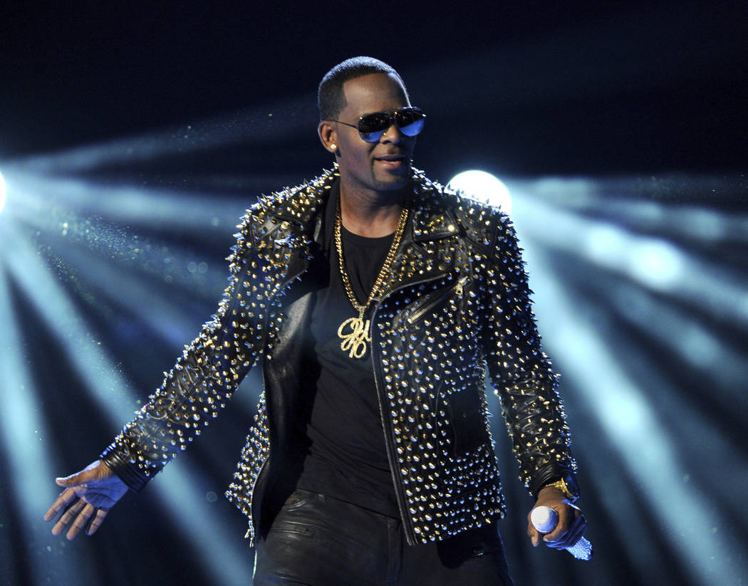 """R. Kelly performs at the BET Awards in Los Angeles, June 30, 2013. In his first interview since being charged with sexually abusing four people, R. Kelly says he """"didn't do this stuff"""" and he's """"f ..."""