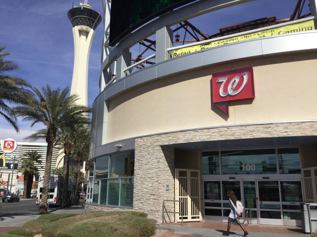 A Walgreens at the northeast corner of Las Vegas Boulevard and Sahara Avenue, seen Tuesday, March 5, 2019, sits on a parcel that years earlier was supposed to have the 80-story Ivana Las Vegas con ...