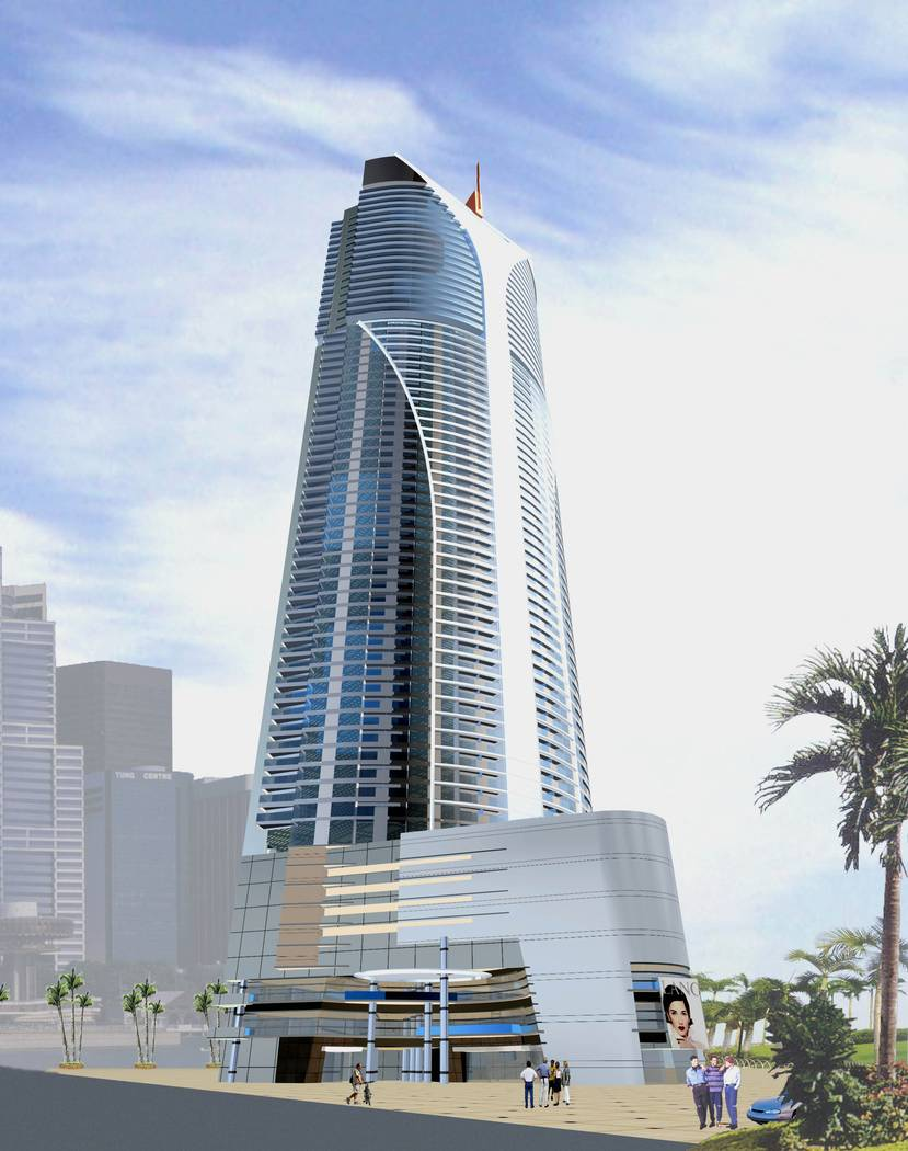 The 80-story Ivana Las Vegas condo tower, seen in this rendering, was supposed to be built at the northeast corner of Las Vegas Boulevard and Sahara Avenue. The project site today has a Walgreens. ...