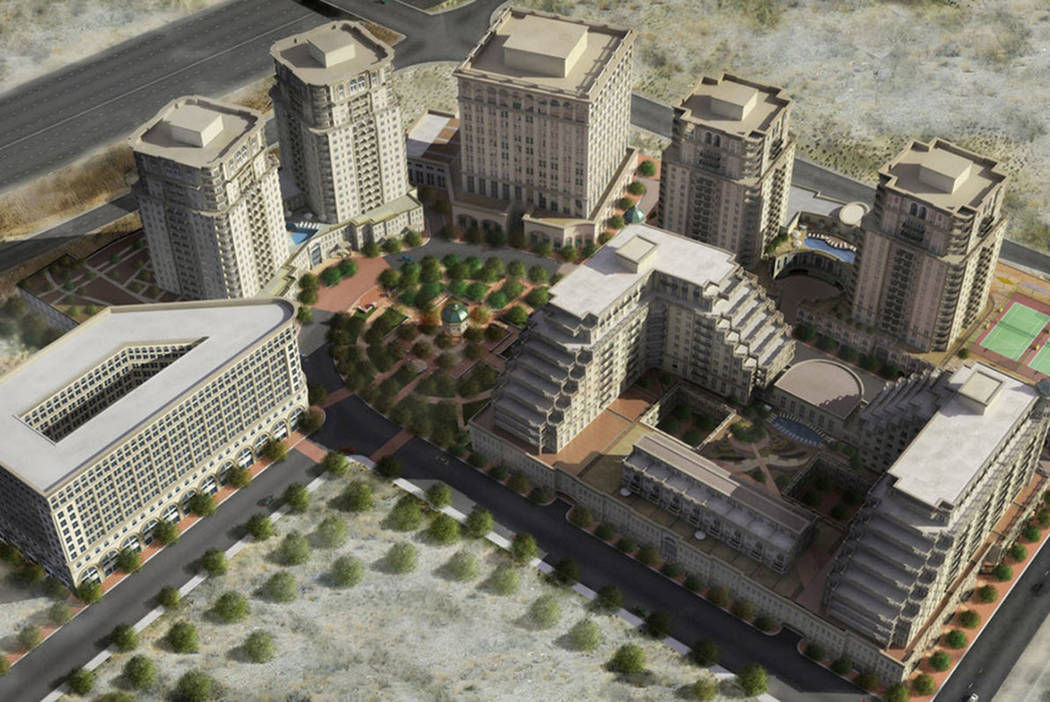 Las Vegas and Irish developers teamed up in 2006 to build Sullivan Square, a multi-tower project at Sunset Road and Durango Drive in Las Vegas, a rendering of which is seen here. It was never buil ...
