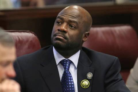 Former Nevada Senate Majority Leader Kelvin Atkinson is expected to plead guilty to a federal wire fraud charge. (Cathleen Allison/AP, File)