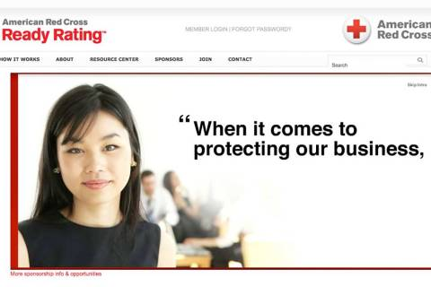 Screen shot of American Red Cross Ready Rating (American Red Cross)