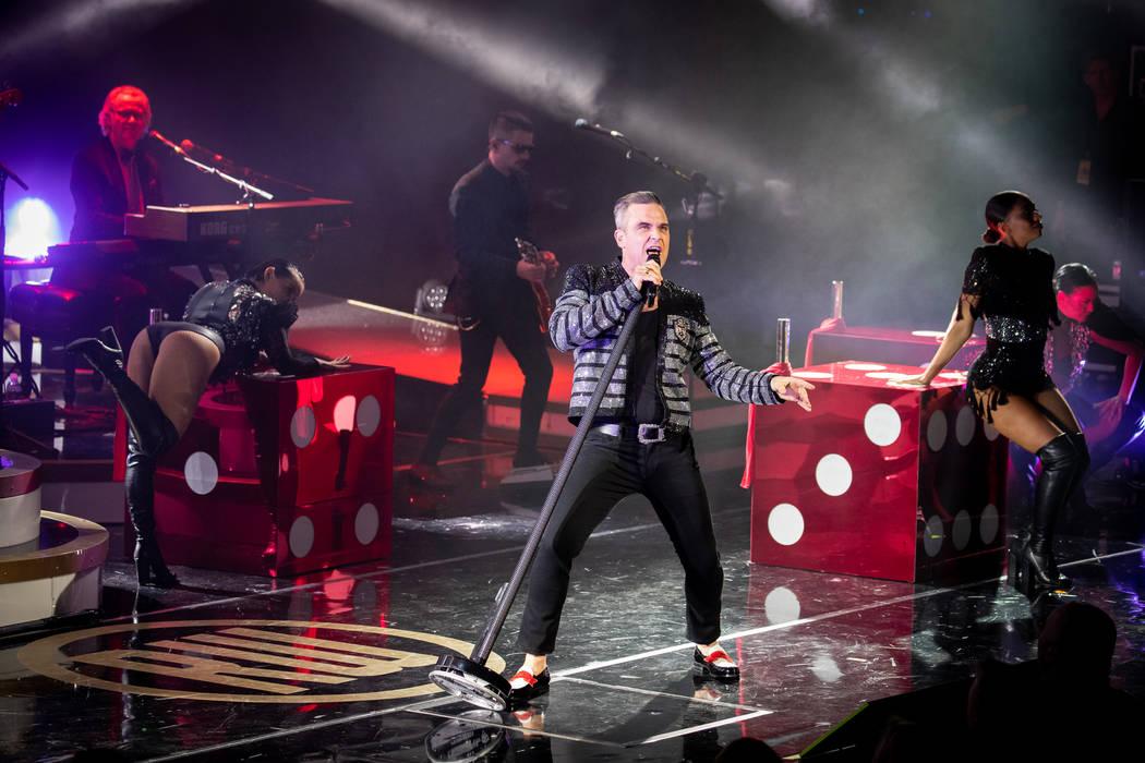 "Robbie Williams debuts his residency, ""Live In Las Vegas,"" at Encore Theater at Wynn Las Vegas on Wednesday, March 6, 2019. (Erik Kabik Photography/erikkabik.com)"