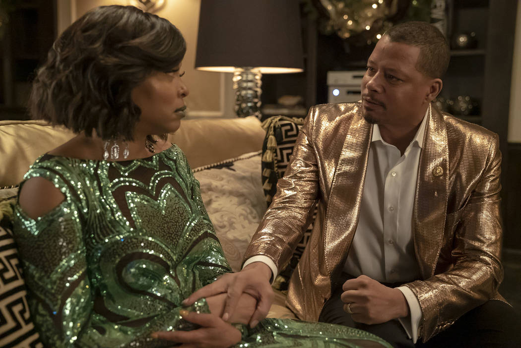 """EMPIRE: L-R: Taraji P. Henson and Terrence Howard in the """"My Fault is Past"""" spring premiere episode of EMPIRE airing Wednesday, March 13 (8:00-9:00 PM ET/PT) on FOX. @2019 Fox Broadcasti ..."""