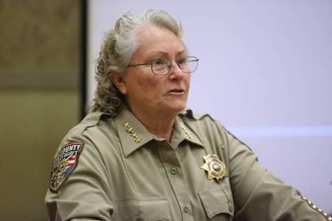 Nye County Sheriff Sharon Wehrly. (Erik Verduzco/Las Vegas Review-Journal) @Erik_Verduzco