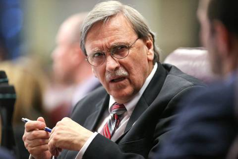 Assemblyman John Ellison, R-Elko, seen in 2015. (Cathleen Allison/Las Vegas Review-Journal)