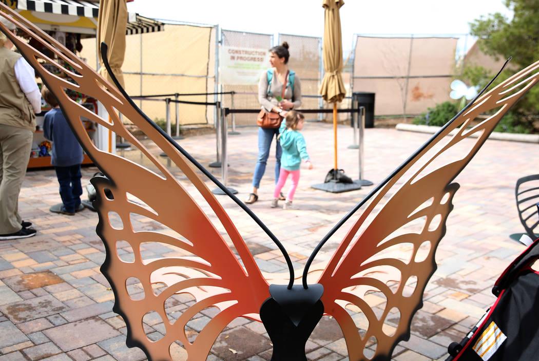 Visitors arrive at the Butterfly Habitat at Springs Preserve on Tuesday, March. 12, 2019, in Las Vegas. Bizuayehu Tesfaye Las Vegas Review-Journal @bizutesfaye