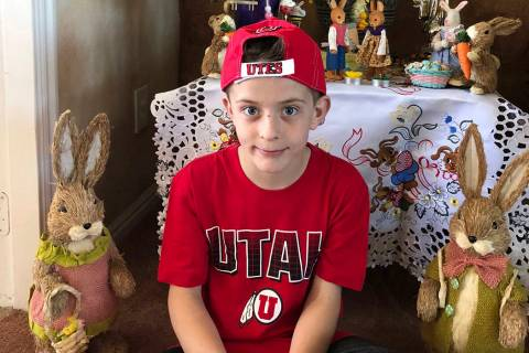 This April 1, 2018 photo provided by Karen Fisher shows fourth-grader William McLeod at his home in Bountiful, Utah. A teacher in the predominantly Mormon state was placed on administrative leave ...