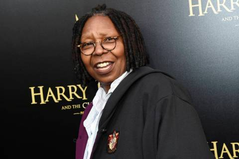 """Actress Whoopi Goldberg attends the """"Harry Potter and the Cursed Child"""" Broadway opening at the Lyric Theatre in New York on April 22, 2018. (Evan Agostini/Invision/AP, File)"""