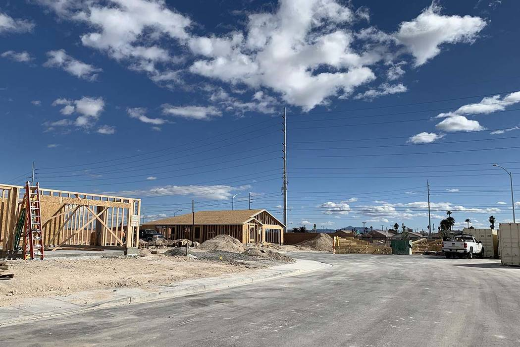 A private security guard was shot and killed while watching over the empty lots of a North Las Vegas construction site near Desert Senna Avenue and Evening Snow Court, Wednesday, March 6, 2019.