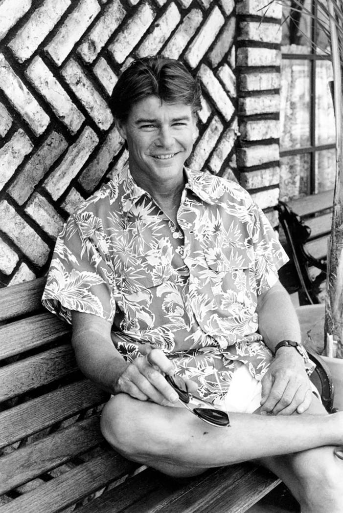 """Actor Jan-Michael Vincent poses during an interview in Hollywood, Calif., in 1984. Vincent, known for starring in the television series """"Airwolf,"""" died Feb. 10, 2019. He was 73. (AP Photo/Wally Fo ..."""