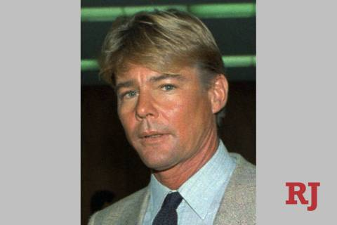 """This September 1986 file photo shows actor Jan-Michael Vincent. Vincent, known for starring in the television series """"Airwolf,"""" died Feb. 10, 2019. He was 73. (AP Photo/Nick Ut, File)"""