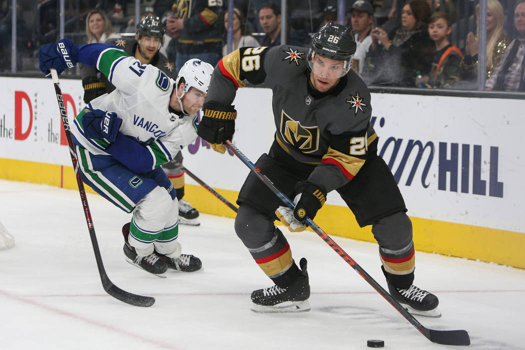 Golden Knights Face Canucks To Begin Back To Back Games Las Vegas