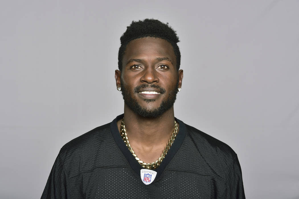 FILE - This is a June 18, 2018, file photo showing Antonio Brown of the Pittsburgh Steelers NFL football team. Steelers wide receiver Antonio Brown has ended his lengthy standoff with the team by ...