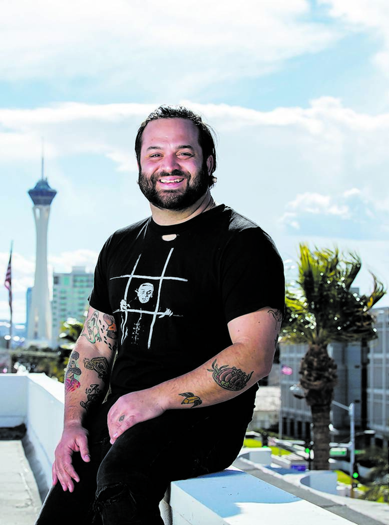 Owner/restaurateur Marc Marrone on the rooftop of a future restaurant he's developing at 201 South Las Vegas Blvd. on Monday, Feb. 18, 2019, in Las Vegas. (Benjamin Hager Review-Journal) @Benjamin ...
