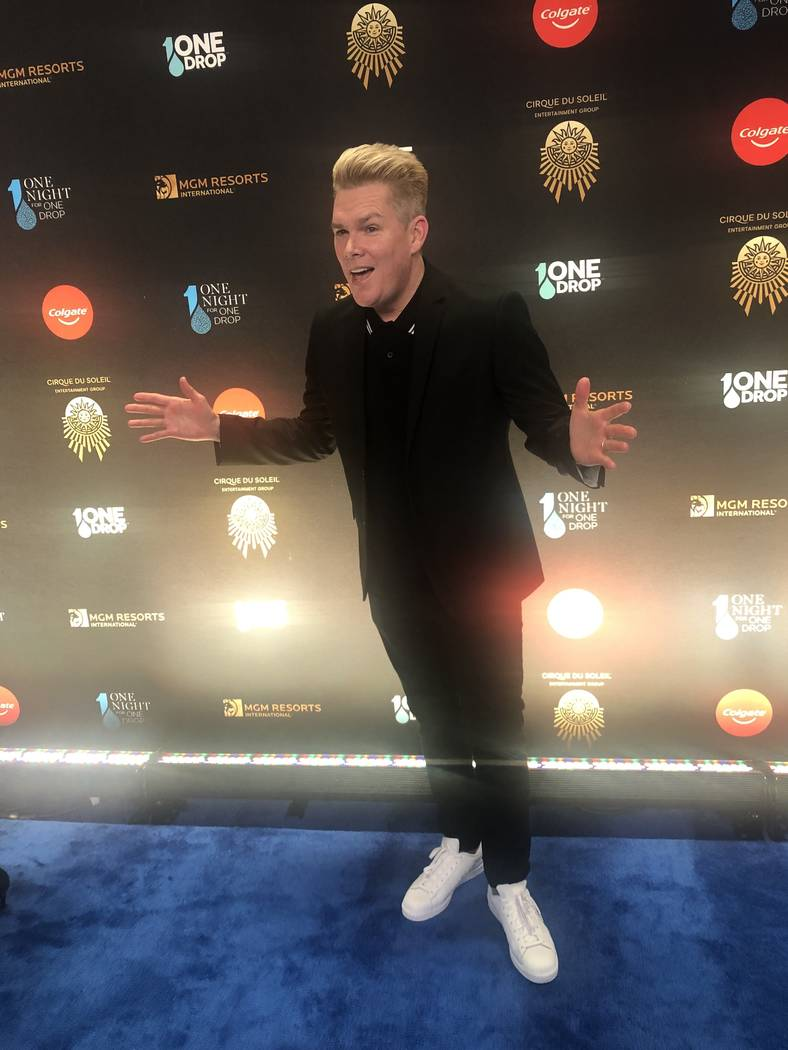 """Mark McGrath of Sugar Ray is shown on the Blue Carpet prior to """"One Night For One Drop,"""" held at O Theater at the Bellagio on Friday, March 8, 2019.( John Katsilometes/Las Vegas Review-Journal @Jo ..."""