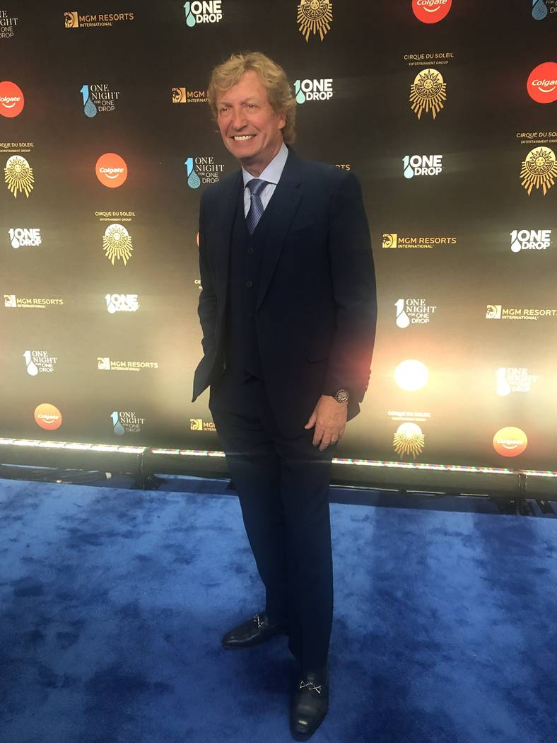 """TV producer Nigel Lythgoe is shown on the Blue Carpet prior to """"One Night For One Drop,"""" held at O Theater at the Bellagio on Friday, March 8, 2019.( John Katsilometes/Las Vegas Review-Journal @Jo ..."""