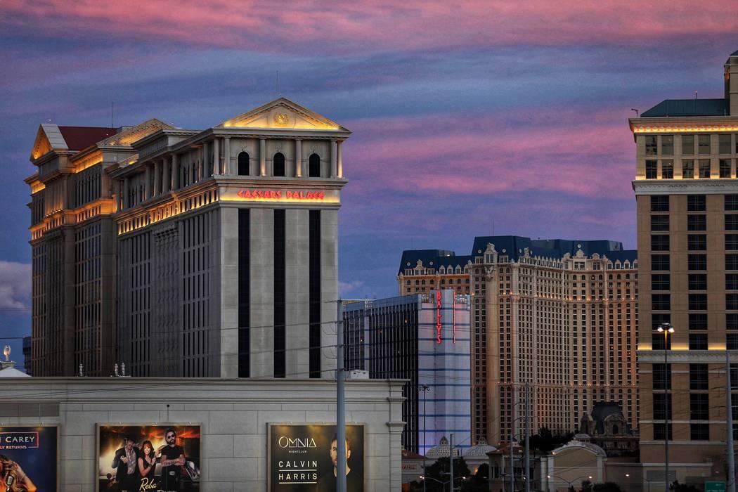 Caesars Palace on the Las Vegas Strip on Friday, Feb. 15, 2019. (Todd Prince/Las Vegas Review-Journal)