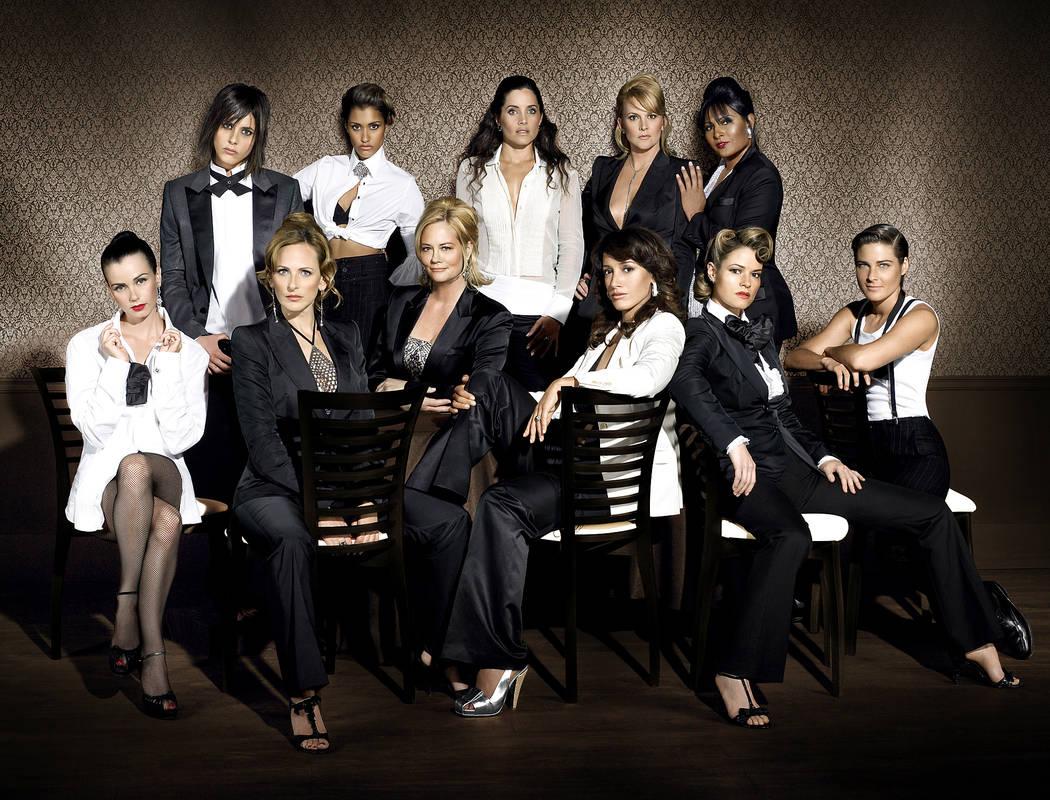 "FILE*** Cast of ""The L Word""(L-R top row) Katherine Moennig as Shane, Janina Gavankar as Papi, Rachel Shelley as Helena, Laurel Holloman as Tina, and Pam Grier as Kit. (L-R bottom row) ..."