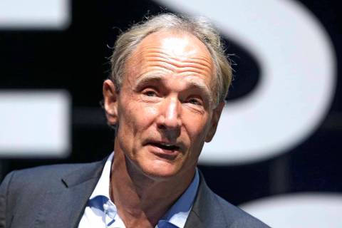 In this Tuesday, June 23, 2015 file photo, English computer scientist Tim Berners-Lee, best known as the inventor of the World Wide Web, attends the Cannes Lions 2015, International Advertising Fe ...