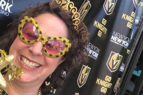 Jenn Michaels is the senior vice president of public relations at MGM Resorts. She's also a fanatic Golden Knights fan. (Jenn Michaels/Facebook)