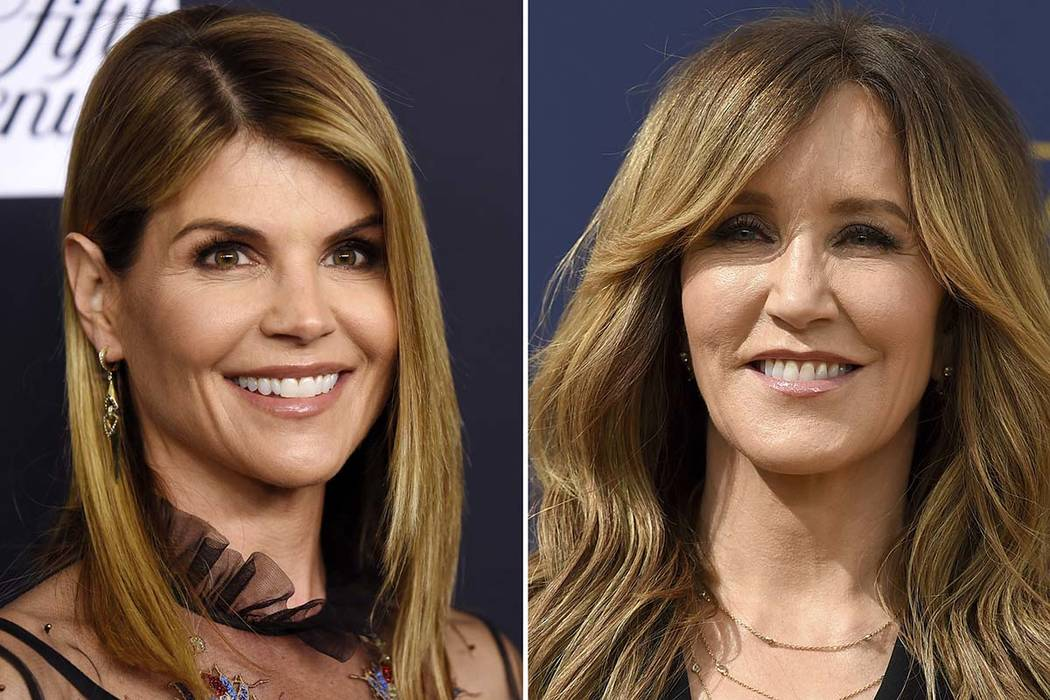 Actresses Lori Loughlin, left, and Felicity Huffman are among nearly 50 people indicted in a sweeping college admissions bribery scandal. Both were charged with conspiracy to commit mail fraud and ...