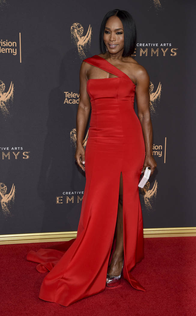 Angela Bassett arrives at night two of the Television Academy's 2017 Creative Arts Emmy Awards at the Microsoft Theater on Sunday, Sept. 10, 2017, in Los Angeles. (Photo by Phil McCarten/Invision ...