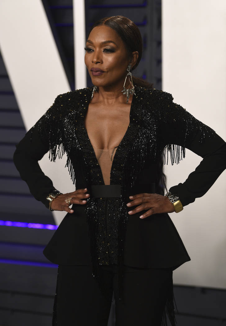 Angela Bassett arrives at the Vanity Fair Oscar Party on Sunday, Feb. 24, 2019, in Beverly Hills, Calif. (Photo by Evan Agostini/Invision/AP)