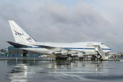 Pictured is a photo of SOPHIA, the highly modified Boeing 747SP aircraft that ambassadors will fly aboard during their training in the ambassador program. In this photo, SOFIA is being readied for ...