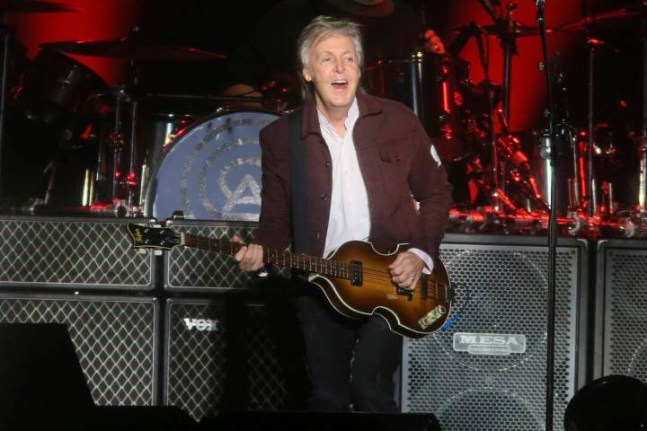 Paul McCartney performs on day one of the Austin City Limits Music Festival's first weekend on Friday, Oct. 5, 2018, in Austin, Texas. (Jack Plunkett/Invision/AP)