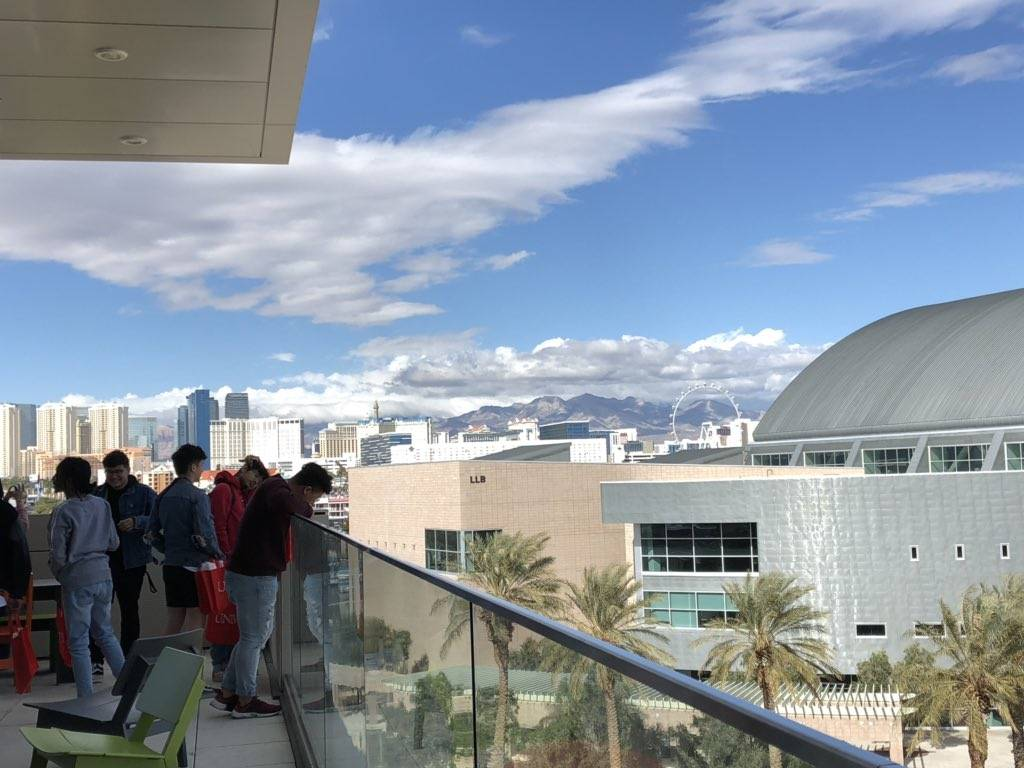 A group of students touring UNLV's Hospitality Hall during Latinx Scholars Day on Friday, March 8. (UNLV)