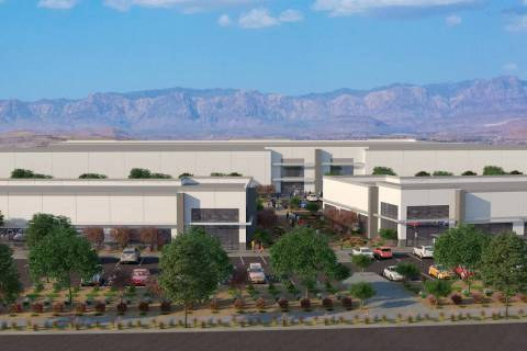Matter Real Estate Group said it started construction of a 17-acre, 300,000-square-foot industrial park called Matter Park @ West Henderson, a rendering of which is seen here. (Courtesy Matter Rea ...