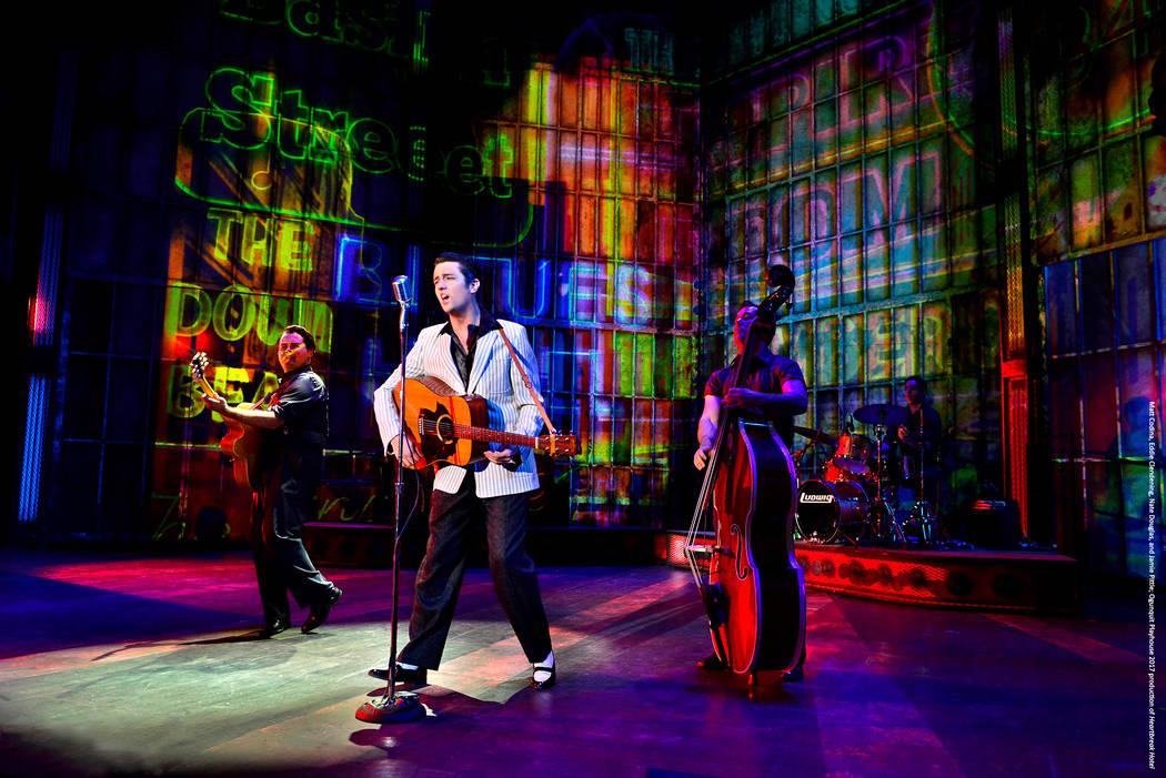 "Eddie Clendening plays the King in ""Elvis Presley's Heartbreak Hotel,"" moving into Harrah's Showroom on April 15. (Gary Ng)"
