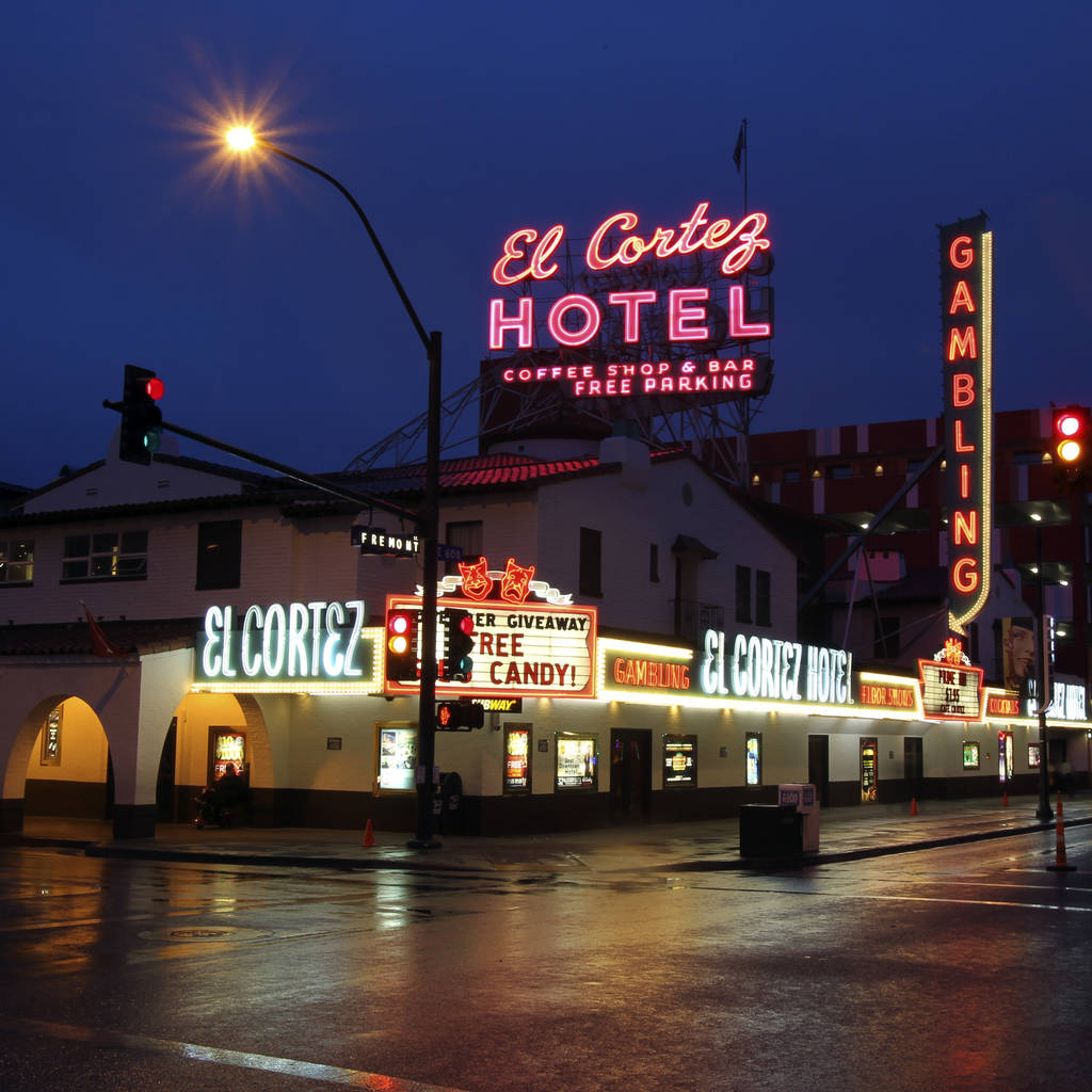 Las Vegas' oldest continuously operating casino, the El Cortez, sits at the corner of Fremont and 6th streets in downtown Las Vegas. (K.M. Cannon/Las Vegas Review-Journal)