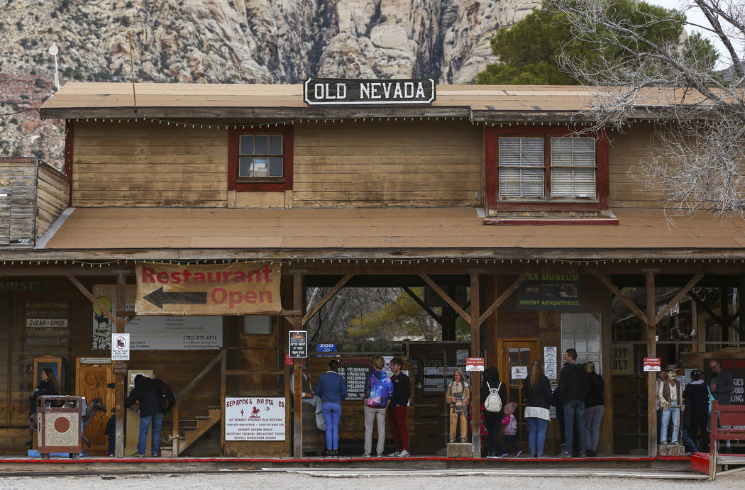 Visitors at Bonnie Springs Ranch outside of Las Vegas on Saturday, Jan. 12, 2019. The ranch is under contract to be sold and demolished for luxury home lots. Chase Stevens Las Vegas Review-Journal ...